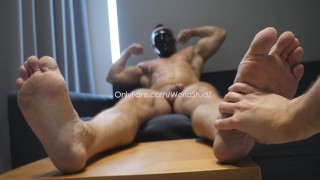 Ex-military straight bodybuilder allows me to to touch his thick dick