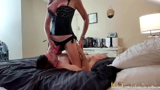 REAL COUPLE - SENSUAL Foreplay Passionate Real Sex - PEGGING CUNNILINGUS BLOWJOB - Real Orgasm