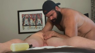 Oscar Bear erotic massage flip flop happy creampie
