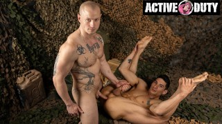 Niko Carr Promoting Army Jock With Massive Pounding - ActiveDuty