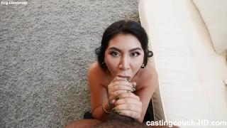 Latina with BIG FAT ASS fucking during a rap video audition