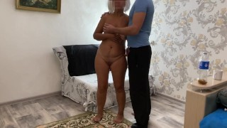 Milf with big tits and ass gave a blowjob and allowed anal sex