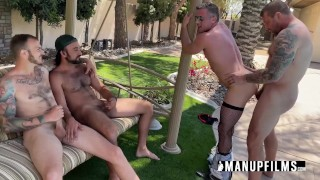 Lance Hart gets Gangbanged at Colby's House!
