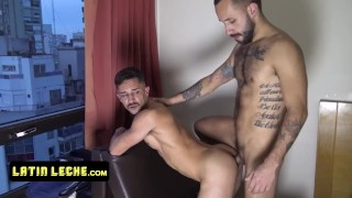 Horny Athletic Latinos Take Turns And Pounds Each Others Tight Asses In A Hotel Room For Money