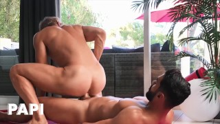 Papi - Trainer Arad WinWin Spanks Alam Wernik's Ass Until Alam Moans In Desire For His Thick Pole