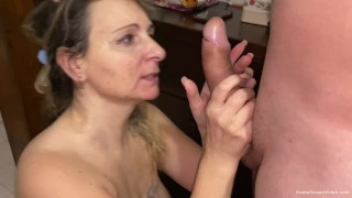 Wife takes her husbands big dick in all her holes