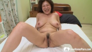 Drilling my friend's hot brunette Asian mom