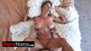 Big Titted Mature Milf Lets Her Step Grandson Fills Her Juicy Twat With Jizz To Provoke His Mom