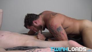 TwinkLoad - Short, muscular older guy is raw fucked by hung ginger boy