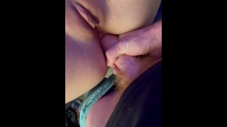 POV College slut takes it in the ass anal for the first time missionary big white dick in fat ass