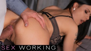 DEVIANTE - Busty sex worker with petite ass in hard rough sex squirting and cumming hard with client