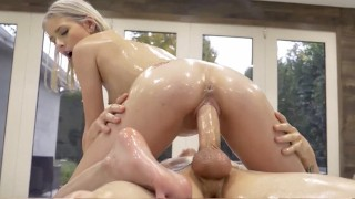 LUBED Several Slippery Oiled Up Girls Fucked Compilation