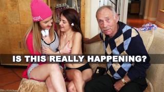 BLUE PILL MEN - Arnie Berke Gets His Geriatric Mind Blown By Teens Vanessa Phoenix And Gigi Flamez