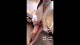 cute exhibicionist asian ladyboy masturbating her dick in public