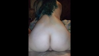 Sexy pawg bounces fat ass on My big cock!
