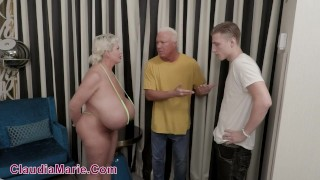 Fat Ass Claudia Marie Impregnated By Her Husband's Son