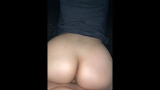 My boyfriend fucking me so hard and coming all over my ass