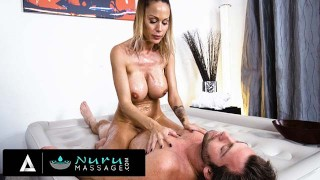 NURUMASSAGE She Must Satisfy The Horny Massage Therapist's Big Pole