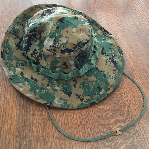 camo wide brim hat