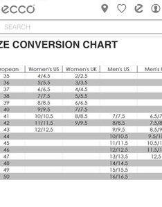 Ecco size chart also miraartflyjobs rh