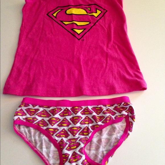 supergirl underwear set