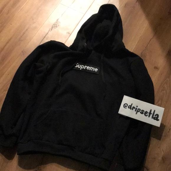 supreme jackets coats black