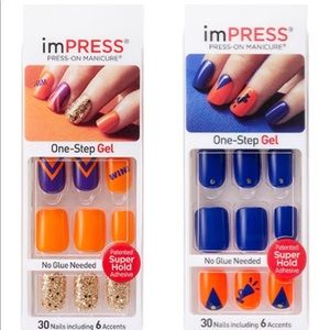 Impress Other Set 2 Kiss Nails Houston Astros Colors Poshmark