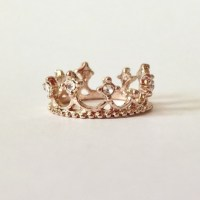 Jewelry   Rose Gold Crown Ring With Rhinestones   Poshmark