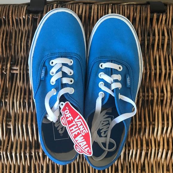 87d34c1da1 Vans Shoes Off The Wall Canvas Blue Poshmark