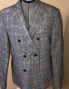 Zara man linen checked sport coat new also suits  blazers poshmark rh