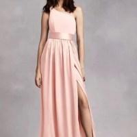 Vera Wang Dresses | Blush Bridesmaid Dress One Shoulder ...