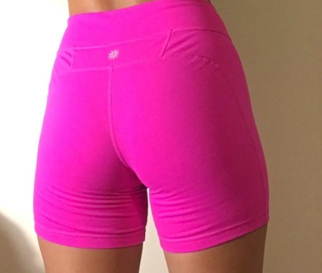 Athleta Kick Booty Spandex Shorts Hot Pink Size M
