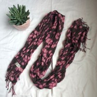 Old Navy Accessories | Pink And Brown Scarf | Poshmark