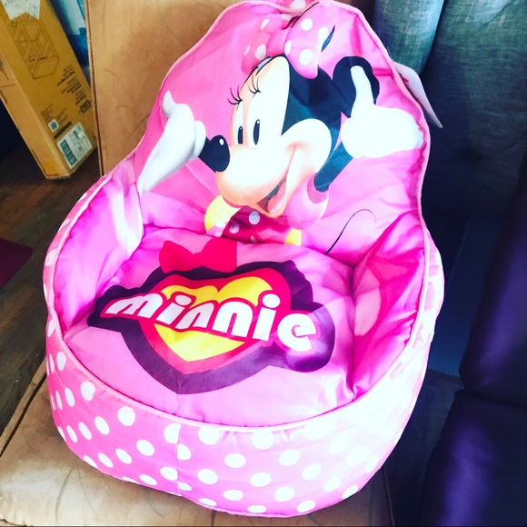 minnie mouse bean bag chair steel price in patna disney other poshmark