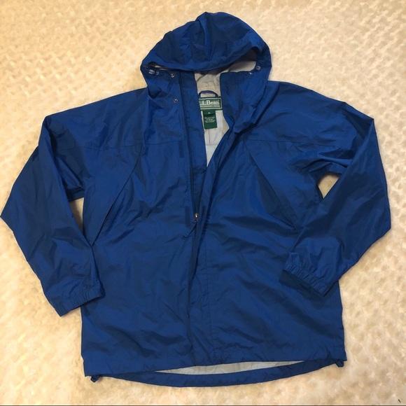 L L Bean Trail Model Rain Jacket Mens