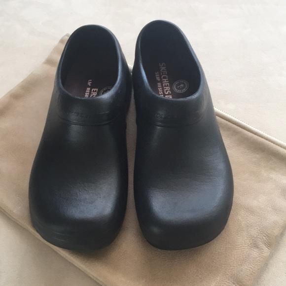 shoes for work in the kitchen island bars skechers clogs poshmark m 5b184f5e5c4452864f2f203f