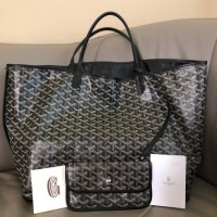 Goyard Bags | Black Anjou Reversible Pm Tote Bag | Poshmark