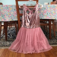 B Darlin Dresses | Pink Sequined Aline Homecoming Dress ...