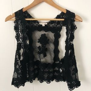 black cotton candy lace