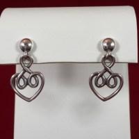 James Avery Jewelry | Retired 925 Scrolled Heart Earrings ...