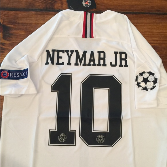 neymar jr 10 psg jordan jersey white