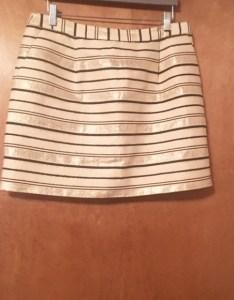 crew dresses  skirts gold stripe mini skirt also goldstripe size poshmark rh