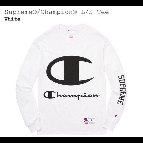 nyeste design køb billigt salg uk supreme x champion long