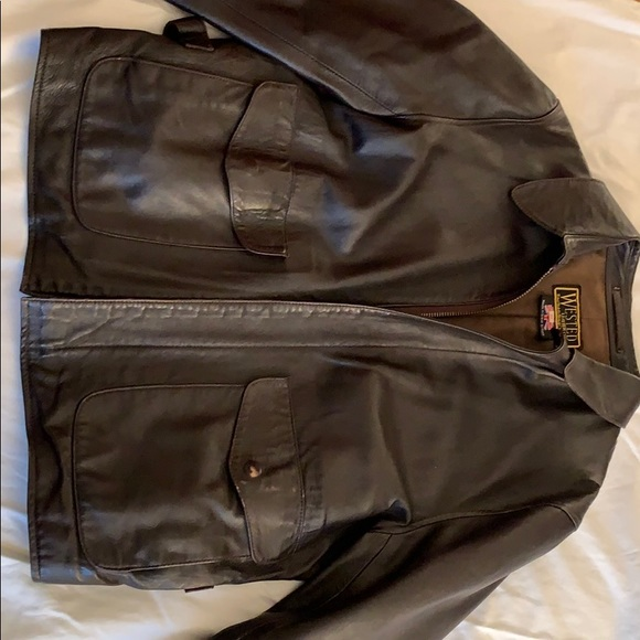 men s wested leather