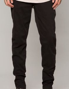 Black stretch twill tapered chino pant also men   pants size chart on poshmark rh