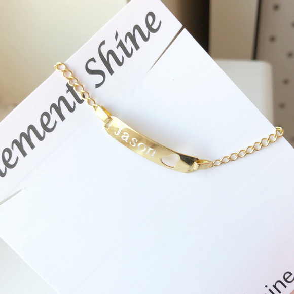 gold heart engraved name