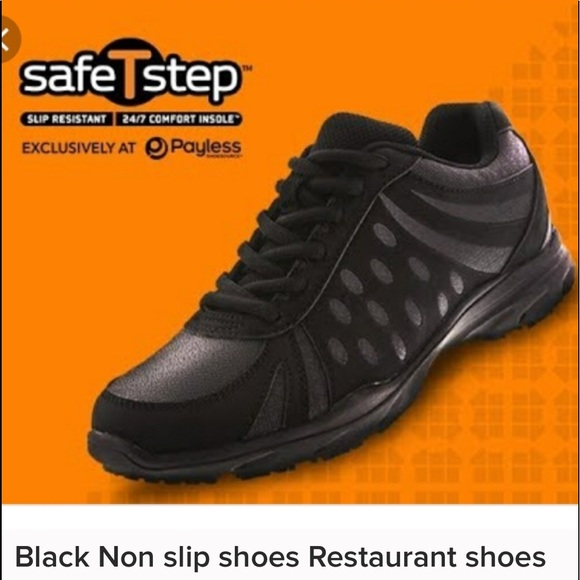 Mens Black Non Slip Shoes Payless