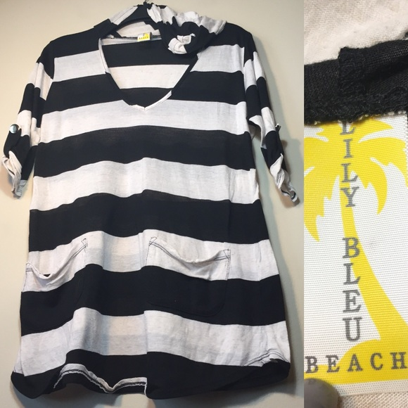 lily bleu beach striped