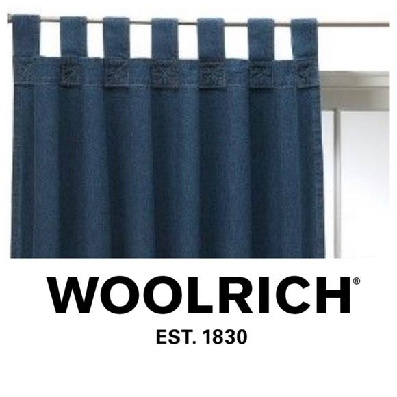 woolrich denim curtains 2 panels