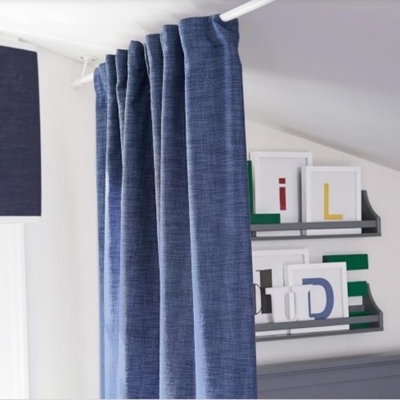 pair of denim curtain panels pbk
